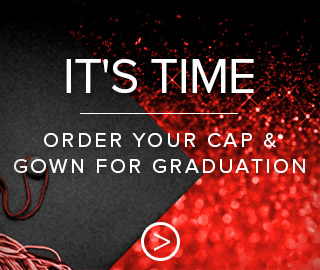Picture of a graduation cap. It's time. Click to order your cap and gown for graduation.